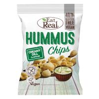 EAT REAL Hummus Chips s krémovým kôprom 45 g BEZ lepku