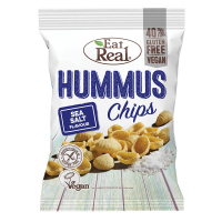 EAT REAL Hummus Chips s morskou soľou 135 g Bez lepku