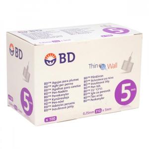 Inzulinové jehly BD 0.25x5mm (31G) 100ks
