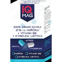 IQ MAG horčík 375 mg + B6 + kyselina listová 30 kapsúl