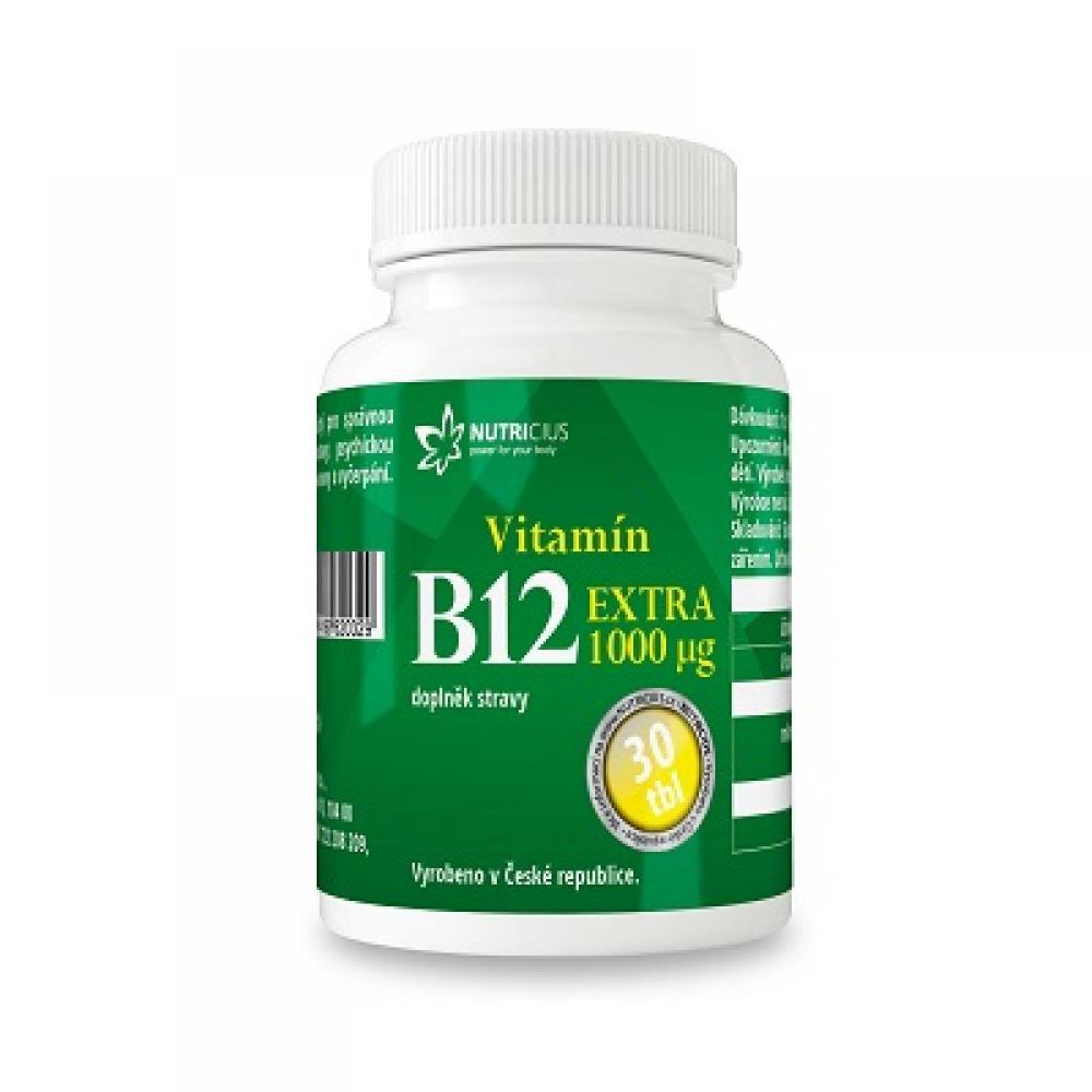 NUTRICIUS Vitamín B12 Extra 1000 g 30 tabliet