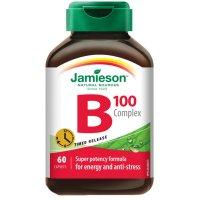 JAMIESON B-komplex 100 mg s postupným uvoľňovaním 60 tabliet