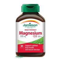 JAMIESON Horčík 500 mg s vitamínom D3 500 IU 60 tabliet