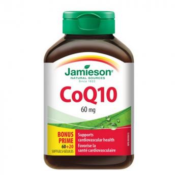 JAMIESON Koenzým Q10 60 mg 80 kapsúl