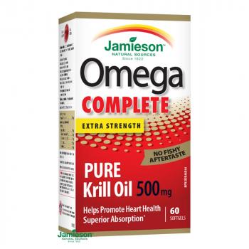 JAMIESON Omega COMPLETE Pure Krill 500 mg 60 kapsúl
