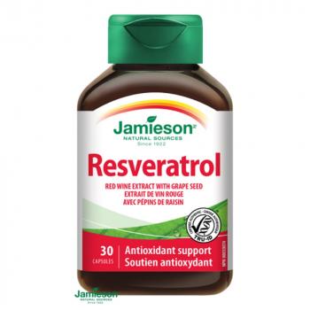 JAMIESON Resveratrol 50 mg extrakt z červeného vína 30 kapsúl