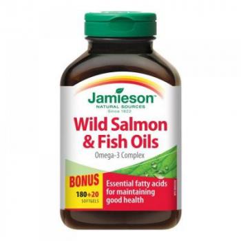 JAMIESON Omega-3 Komplex z lososa a rybích olejov 200 kapsúl