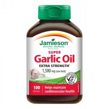 JAMIESON Super cesnakový olej 1500 mg 100 kapsúl