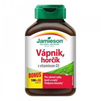 JAMIESON Vápnik, horčík s vitamínom D3 120 tabliet