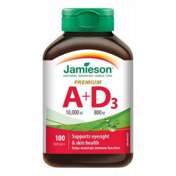 JAMIESON Vitamín A a D3 Premium 10000 IU/ 800 IU 100 kapsúl