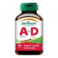 JAMIESON Vitamín A a D Premium 10000 IU/ 800 IU 100 kapsúl
