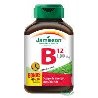 JAMIESON Vitamín B12 1200mcg s postupným uvoľňovaním 60+20 zadarmo