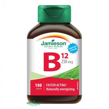 JAMIESON Vitamín B12 250 mcg 100 tabliet