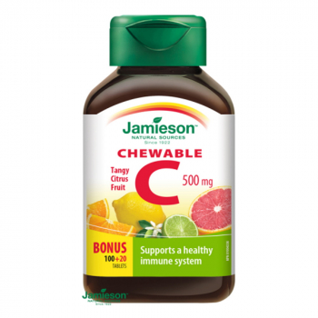 JAMIESON Vitamín C 500 mg citrusové ovocie 120 tabliet na cmúľanie