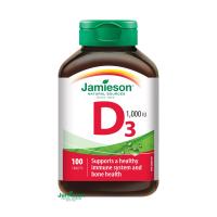 JAMIESON Vitamín D3 1000 IU 100 tabliet