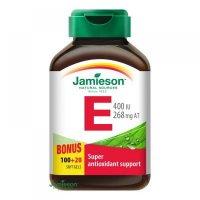 Jamieson Vitamín E 400 IU 100 + 20 kapsúl