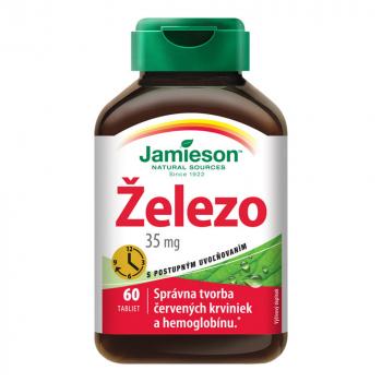 JAMIESON Železo 35 mg s postupným uvoľňovaním 60 tabliet
