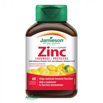 JAMIESON Zinok s vitamínmi C a D3 citrón 60 pastiliek