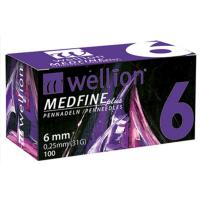 Ihly WELLION MEDFINE PLUS 31Gx6mm 100ks inzulínová pera