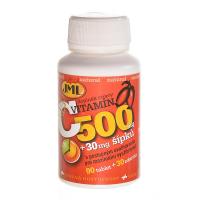 JML Vitamín C 500 mg s postupným uvoľňovaním so šípkami 120 tabliet