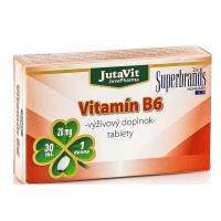 JUTAVIT Vitamín B6 - 20 mg 30 tabliet