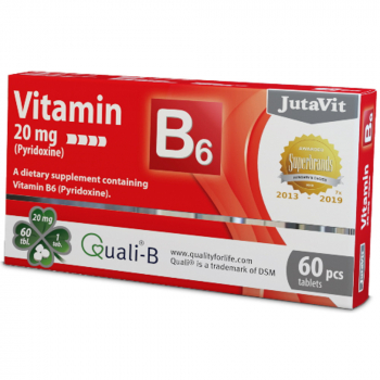 JUTAVIT Vitamín B6 20 mg 60 tabliet