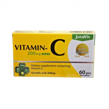JUTAVIT Vitamín C 200 mg 60 tabliet