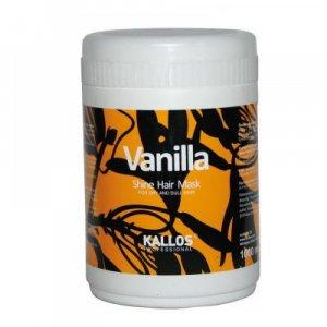KALLOS Vanilla Shine maska pre oživenie suchých vlasov 1000 ml