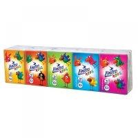 LINTEO Papierové vreckovky Kids mini 3-vrstvové 10x10 kusov