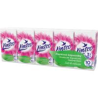 LINTEO Satin Papierové vreckovky 3-vrstvové 10x10 ks