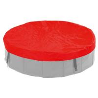 KARLIE FLAMINGO Plachta na bazén pre psov červená 80 cm