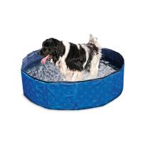 KARLIE FLAMINGO Skladací bazén pre psov modro-čierny 120x30 cm