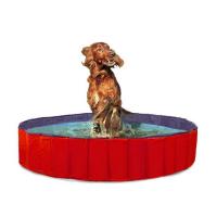 KARLIE FLAMINGO Skladací bazén pre psov modro-červený 80x20 cm
