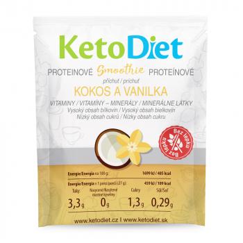 KETODIET Proteínové smoothie príchuť kokos a vanilka 7 porcií