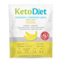 KETODIET Proteínový nápoj príchuť banán 7 porcií