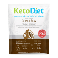 KETODIET Proteínový nápoj príchuť čokoláda 7 porcií