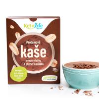 KETOLIFE Proteínová kaša ovsené vločky príchuť čokoláda 200 g