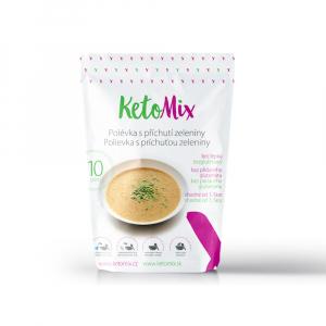 KETOMIX Proteínová polievka s príchuťou zeleniny 10 porcií