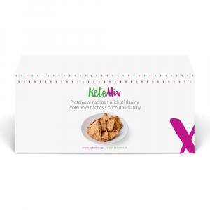 KETOMIX Proteínové nachos s príchuťou slaniny 4 porcie