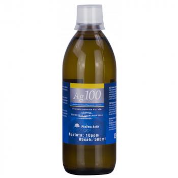 PHARMA ACTIV Koloidné striebro Ag 100 10ppm 500 ml