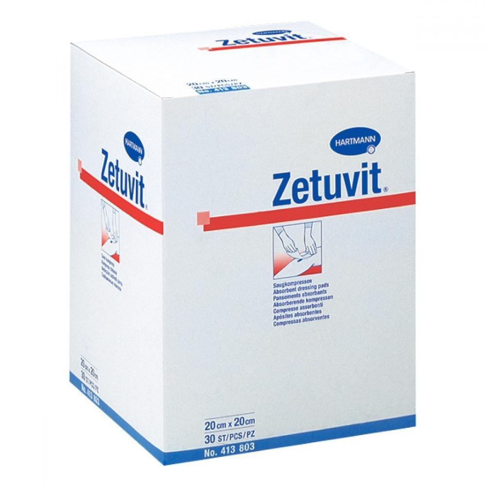KOMPRES Zetuvit nesterilné 20x20 cm / 30 ks