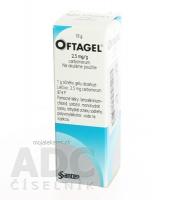 OFTAGEL 2,5 mg/g očný gél 10 g