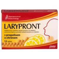 LARYPRONT s propolisom a citrónom 12 tabliet