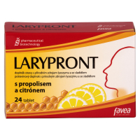 FAVEA Larypront s propolisom a citrónom 24 tabliet