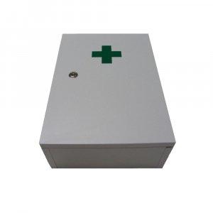 Lekárnička nástenná drevená biela do 30 osôb Steriwund