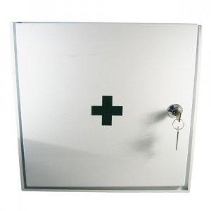 Lekárnička nástenná kovová 30x30x15 -prázdná