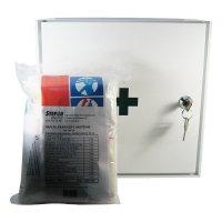 Lekárnička nástenná s náplňou do 10 osôb - ZM10 kovová