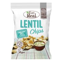 EAT REAL Lentil Chips s krémovým kôprom 113 g BEZ lepku