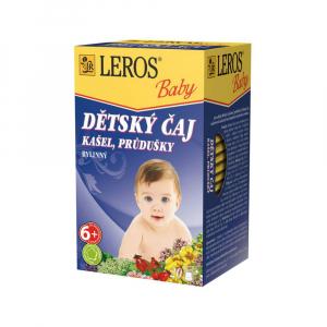 LEROS BABY Detský čaj Na kašeľ a priedušky 20x1,5 g