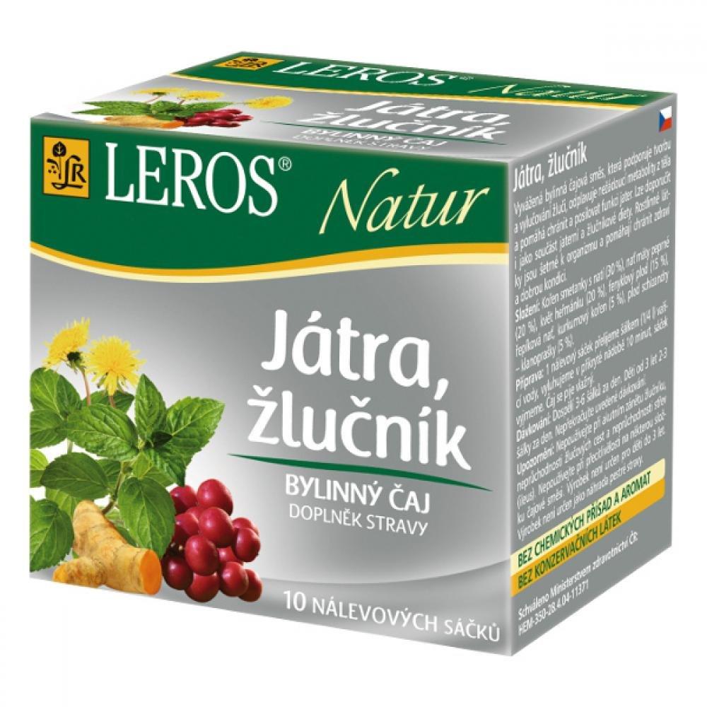 LEROS Natur Pečeň, žlčník 10 x 1,5 g